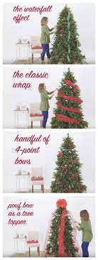 ribbonbunting4 how to decoratehristmas tree with wide