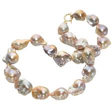 necklace pearl pink images Russell trusso lustrous pink purple blue baroque pearl necklace at jpeg