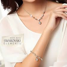 swarovski gold plated bracelet images 18k gold plated swarovski elements heart charm tennis bracelet jpg