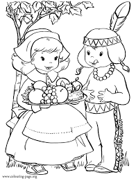 thanksgiving in the thanksgiving day coloring page