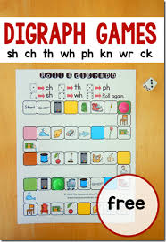 consonant blends free printable game for kids learning digraphs