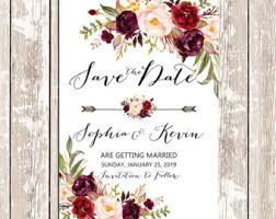 wedding invitations burgundy printable wedding burgundy purple and pink invitation set boho