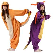 Spyro Dragon Halloween Costume Fire Dragon Spyro Dragon Unisex Onesies Kigurumi Animal Pyjamas