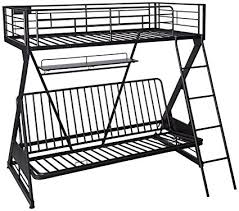 Black Futon Bunk Bed Acme Furniture 37136 Zazie Futon Bunk