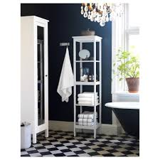 White Bathroom Shelves Hemnes Shelf Unit Black Brown Stain Ikea