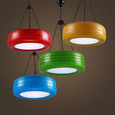 Green Pendant Lights Retro Industry Wind Tires Pendant Lights Rubber Lightings Cafe