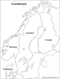 map of europe scandinavia outline map scandinavia enchantedlearning