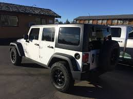 jeep wrangler 4 door white used 2014 jeep wrangler unlimited 4 door sport utility in