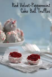 red velvet peppermint cake ball truffles greenthumbwhiteapron com