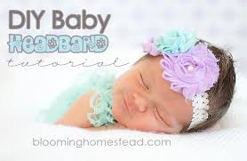 how to make baby headband diy baby headband blooming homestead