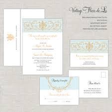 Silver Wedding Invitation Cards Fleur De Lis Wedding Invitations Baroque Wedding Invitation