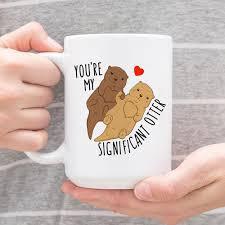 wedding gift mugs you are my significant otter cool mug animal coffee mugs
