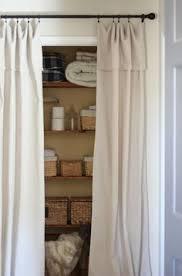Curtain As Closet Door Down With Closet Doors Up With Curtains Hang Curtains Closet