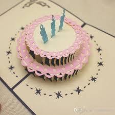 birthday card birthday cake designe greeting card 3d happay