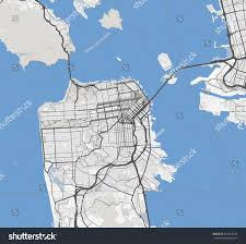 San Francisco City Map by Map San Francisco City California Roads Stock Vector 561283534