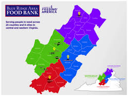 Virginia Map Counties by Our Story Blue Ridge Area Food Bank