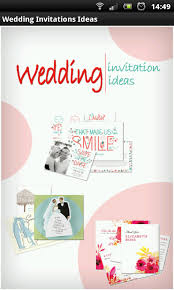 wedding invitations app wedding invitations ideas free android app android freeware