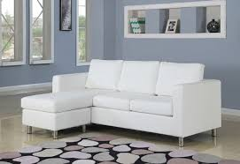 Apartment Size Sectional Sofas by 2 Pc Kemen Collection White Leather Like Vinyl Reversible
