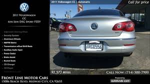 used 2011 volkswagen cc front line motor cars midway city ca