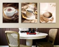 elegant coffee themed curtains and kitchen coffee cup wall decor