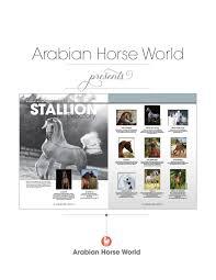 B Om El Regal Arabian Horse World U0027s 2017 Stallion Directory By Arabian Horse