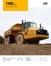 kw truck equipment 740b ej articulated truck caterpillar equipment pdf catalogue