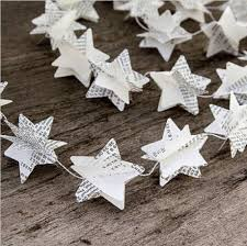 2pcs recycled book garland star garland bunting nursery party