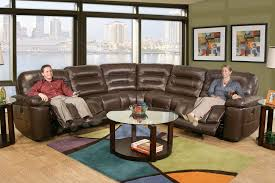 Brown Leather Sectional Sofas With Recliners Kane U0027s Furniture Sectionals