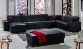 Sectional Sofa Modular Santa Black Modular Sectional Sofa In Pu By Sunset
