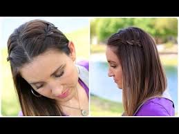 cute girl hairstyles diy diy 4 strand waterfall braid cute girls hairstyles youtube