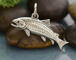 silver fish ring holder images Fish jewelry etsy jpg