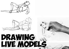 drawing live models and how to get the best poses quick sketches