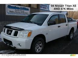 nissan titan quad cab for sale 2004 nissan titan xe crew cab 4x4 in white 532577 nysportscars
