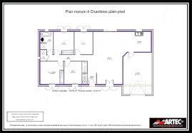 plan plain pied 4 chambres plan maison une chambre charming plan de maison plain pied 5