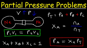 dalton u0027s law of partial pressure problems mole fraction