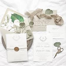 Monogram Wedding Invitations Sarah And Greg U0027s Magnolia Wedding Invitations Wedding Monogram