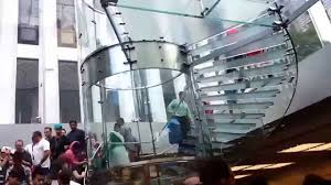 glass staircase apple store new york youtube