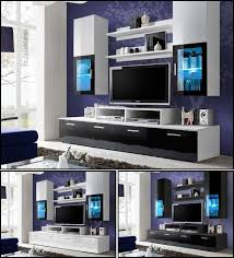 living room wall display unit tv cabinet tv stand high gloss led
