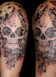 collection of 25 half sleeve skull for