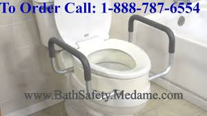 Bathroom Accessories For Disabled by Toilet Seat Riser With Removable Arms For Elderly And Disabled