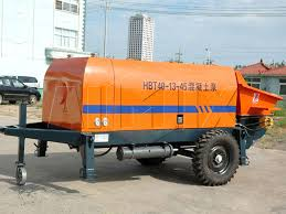 trailer concrete pump of high efficiency from aimix