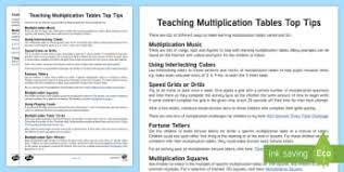 times tables primary resources multiply times page 10