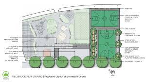 millbrook park basketball and handball court reconstruction nyc