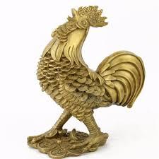 home decor statues fengshui brass da ji da li rooster statues m1213 rooster home