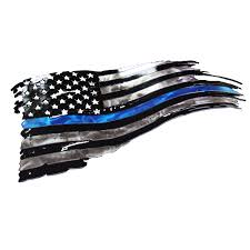 Ripped American Flag Tattered American Flag Thin Blue Line Flag Back The Blue
