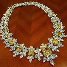 yellow gemstone necklace images 170 best yellow sapphire images diamond necklaces jpg
