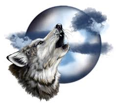 wolf howling at the moon drawing clipartxtras