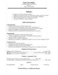 Psychology Resume Templates Examples Of Resumes 93 Captivating Basic Resume Example Simple