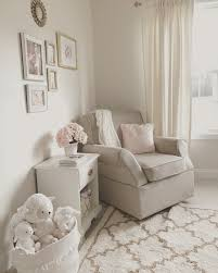 Nursery Room Rocking Chair by Neutral White Gold And Blush Pink Nursery Beige Rocker Glider