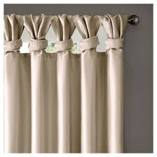 White Lined Curtain Panels Lillian Twisted Tab Lined Curtain Panel Target